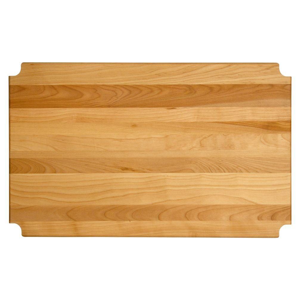 "Hardwood Cutting Board/shelf Insert, 35.125""x17.3125""x1"" - Pot Racks Plus"