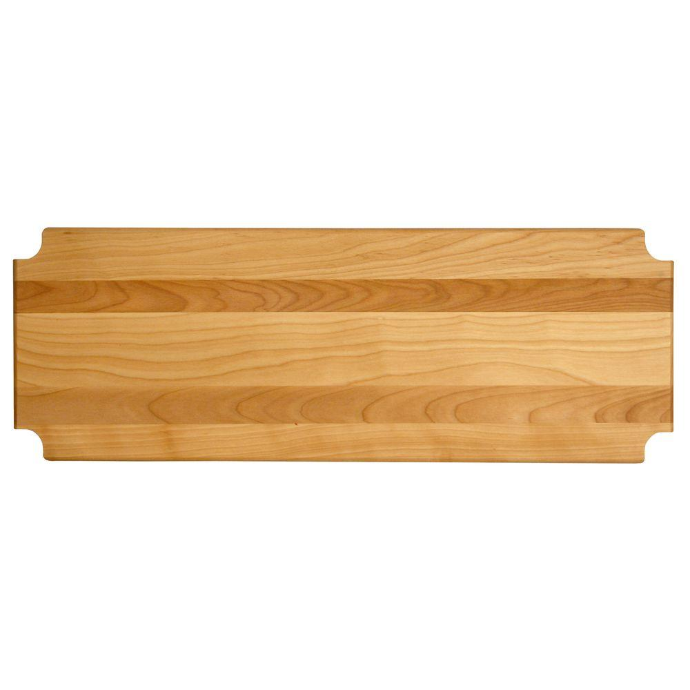 "Hardwood Cutting Board/shelf Insert, 47.125""x17.3125""x1"" - Pot Racks Plus"