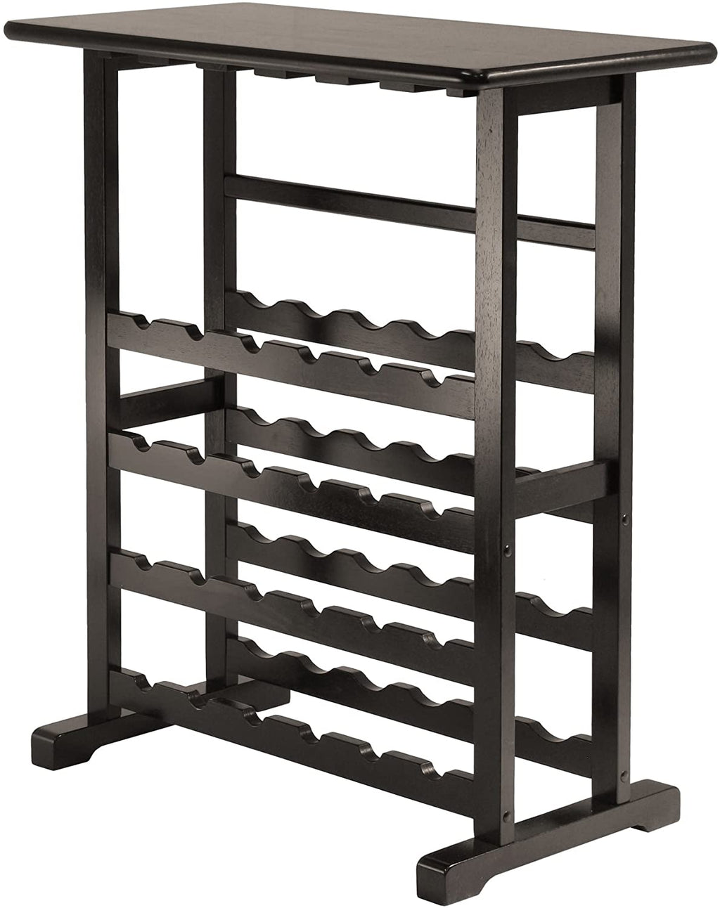 Vinny Wine Rack, 24-Bottle With Glass Hanger - Pot Racks Plus