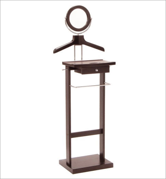 Valet Stand With Mirror, Open Base - Pot Racks Plus