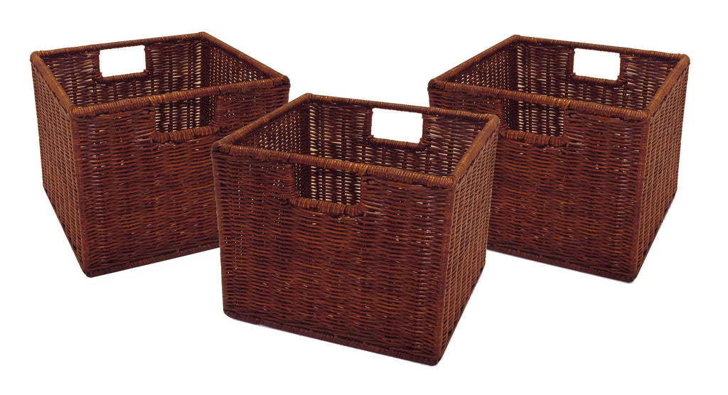 Leo Set Of 3 Wired Baskets, Small - Pot Racks Plus