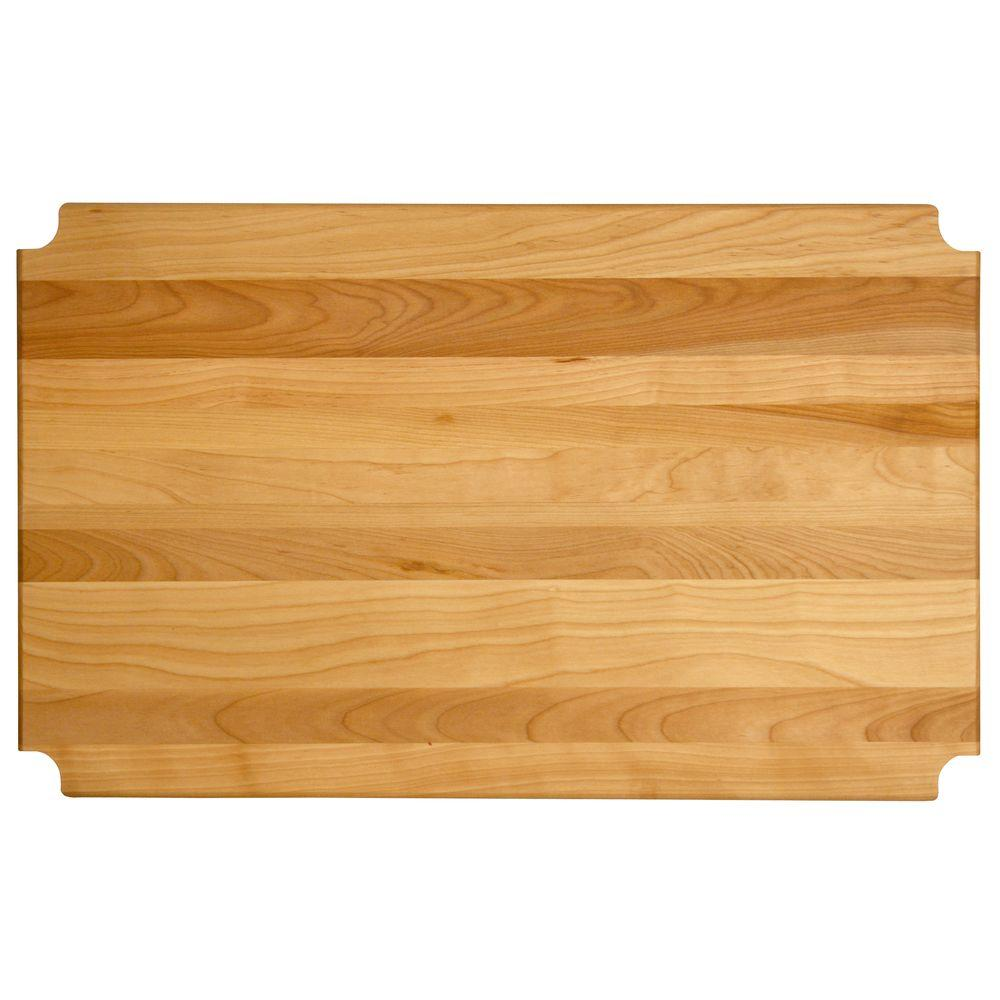 "Hardwood Cutting Board/shelf Insert, 47.125""x23.3125""x1"" - Pot Racks Plus"