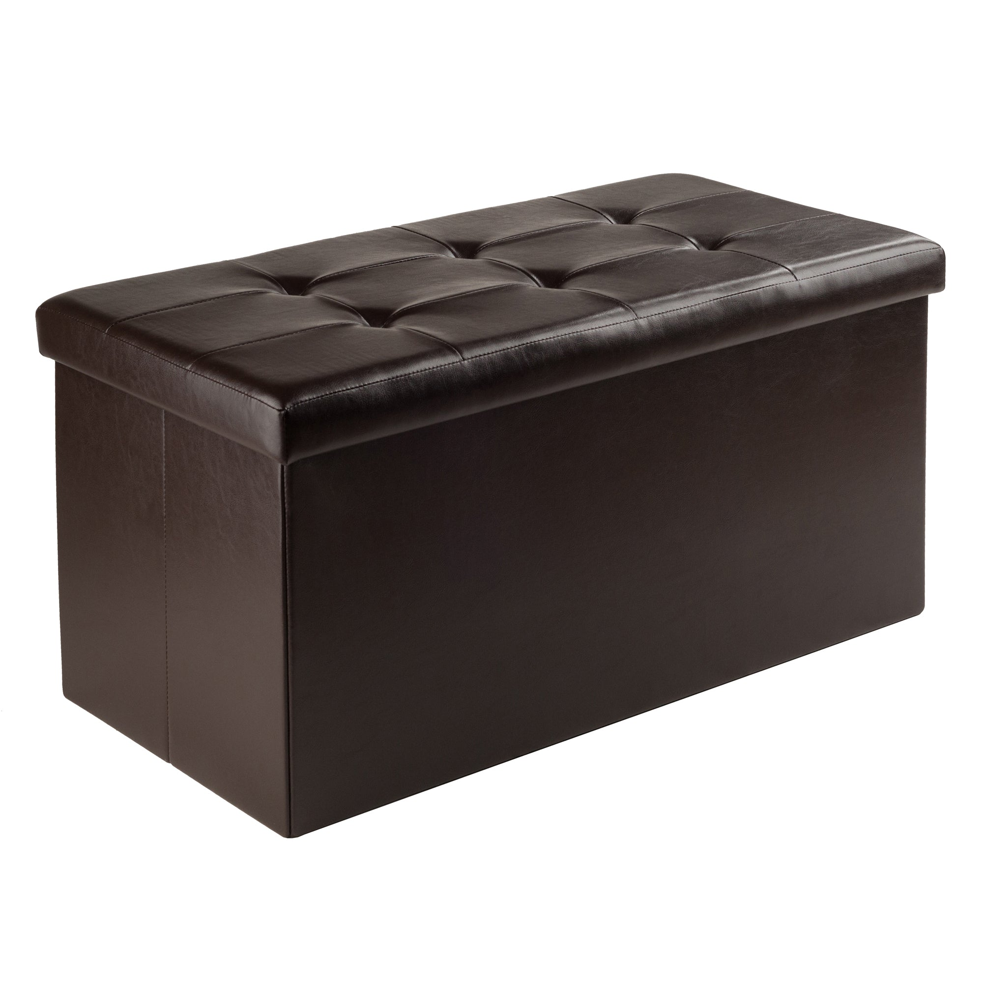Ashford Ottoman with Storage Faux Leather - Pot Racks Plus