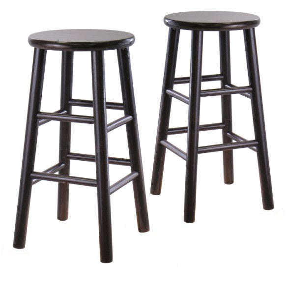"24"" Bevel Seat Stool, Assembled, Set of 2 - Pot Racks Plus"