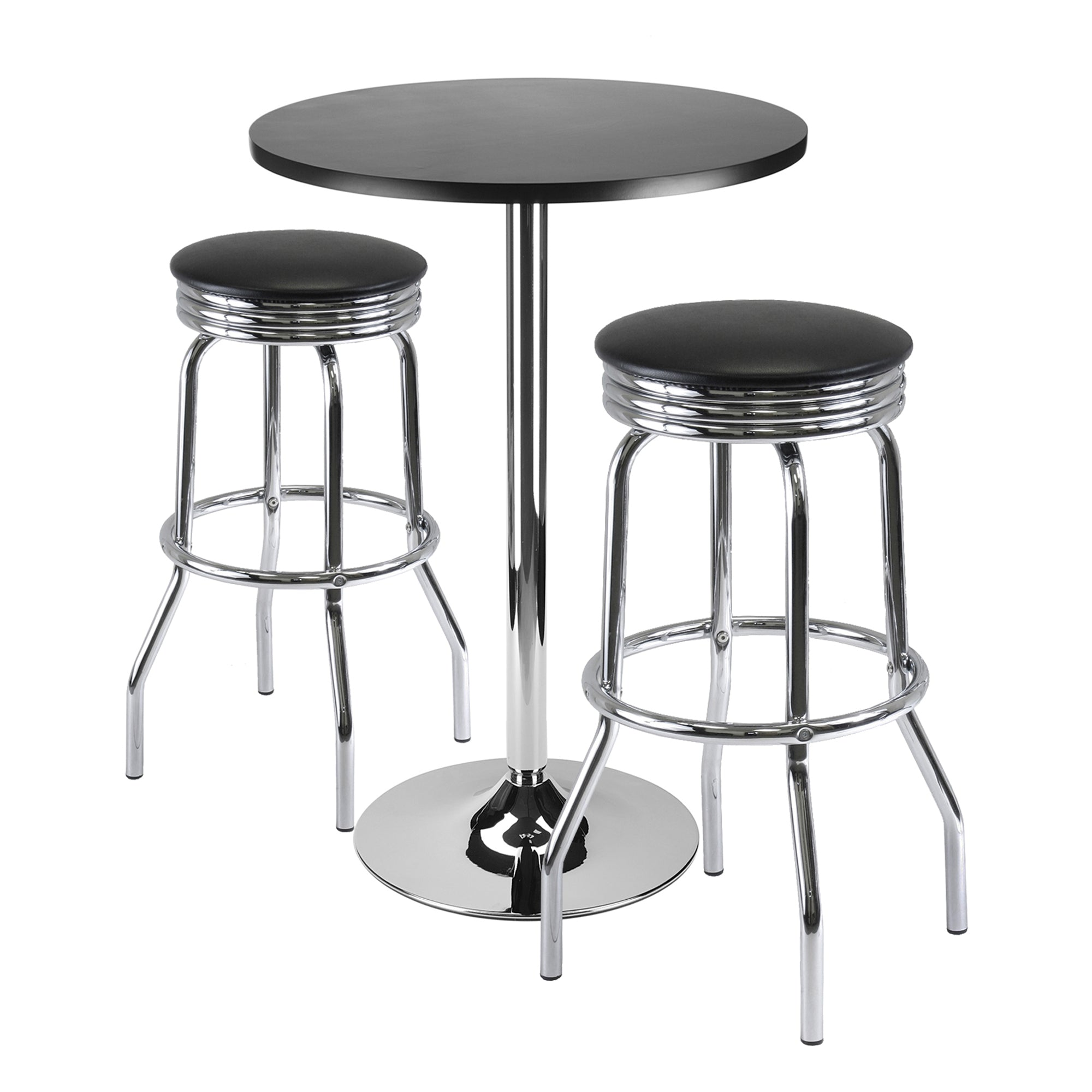 "Summit 3-Pc Bar Table Set, 24"" Table and 2 Stools - Pot Racks Plus"