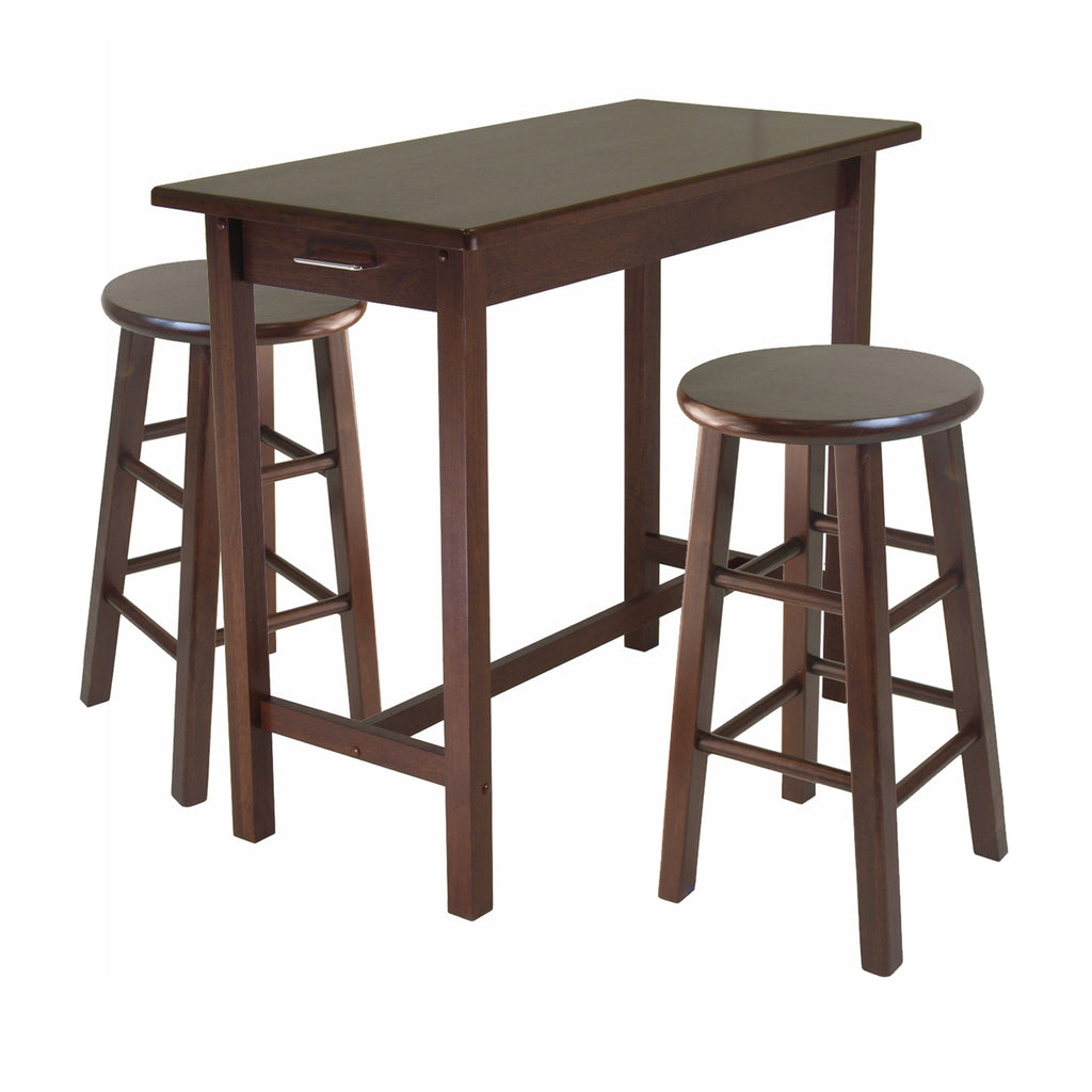 3-Piece Breakfast Table With 2 Square Leg Stools - Pot Racks Plus
