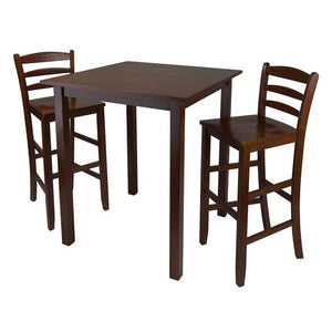"Parkland 3-Piece High Table With 29"" Ladder Back Stool - Pot Racks Plus"