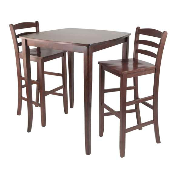 3-Piece Inglewood High/Pub Dining Table With Ladder Back Stool - Pot Racks Plus