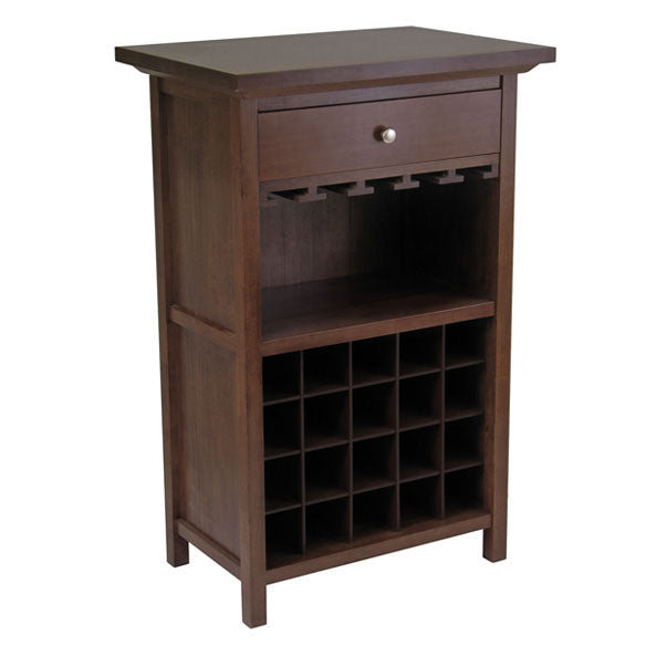 Wine Cabinet With Drawer And Glass Rack - Pot Racks Plus