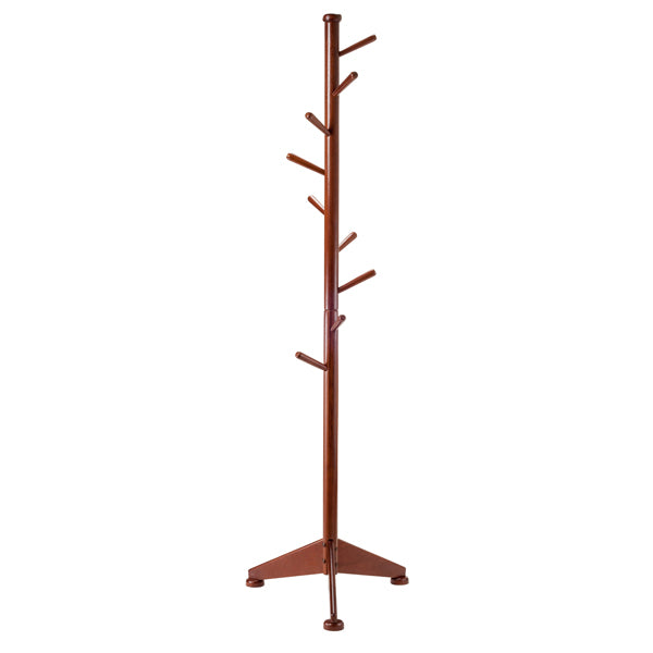 Lily Coat Tree 9 Pegs Walnut - Pot Racks Plus