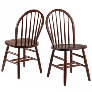 Windsor Chair 2-PC Set - Walnut - Pot Racks Plus