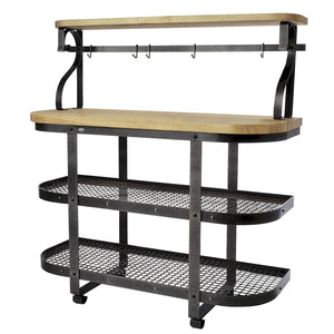 Bakers Sideboard Hammered Steel - Pot Racks Plus