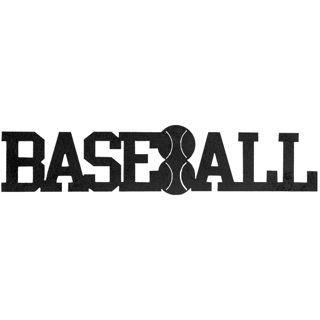 Baseball Word-Hammered Black - Pot Racks Plus