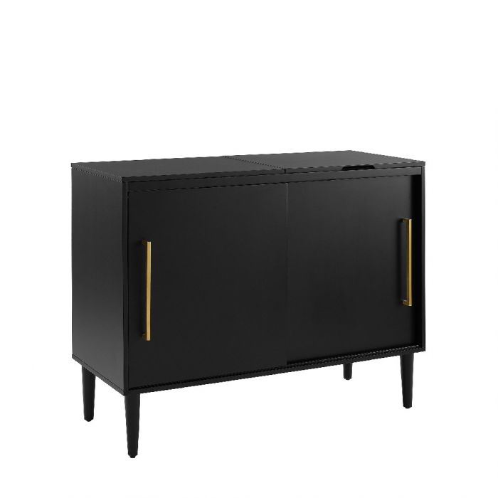 Everett Media Console, Matte Black