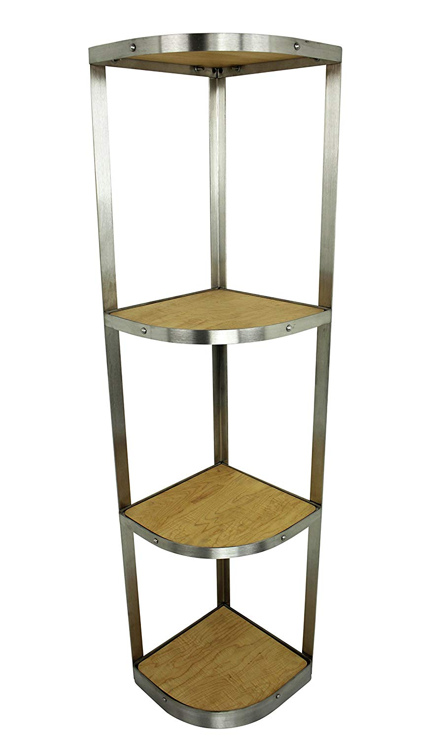 Handcrafted 4 Tier Corner Stand, Stainless Steel - Pot Racks Plus