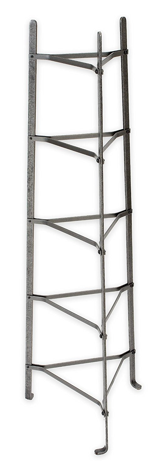 5-Tier Gourmet Stand, Hammered Steel, Unassembled - Pot Racks Plus