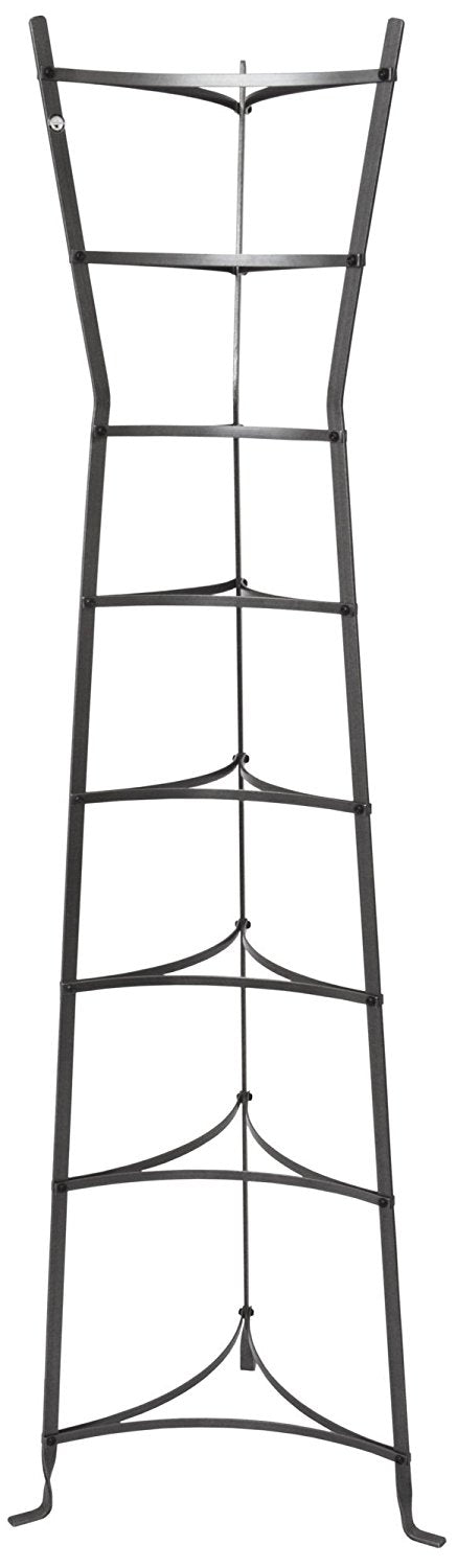 8-Tier Gourmet Hourglass Stand, Hammered Steel - Pot Racks Plus
