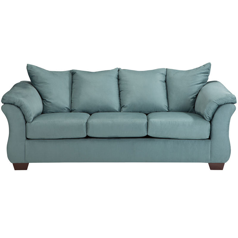 Signature Design by Ashley Darcy Sofa in Sky Microfiber - Pot Racks Plus