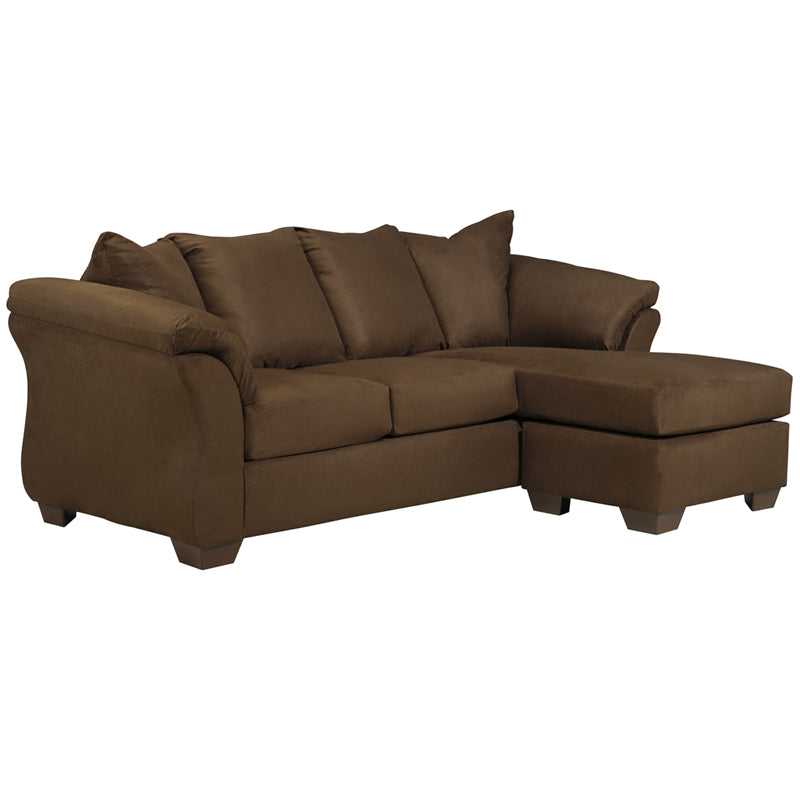 Signature Design by Ashley Darcy Sofa Chaise in Cafe Microfiber - Pot Racks Plus