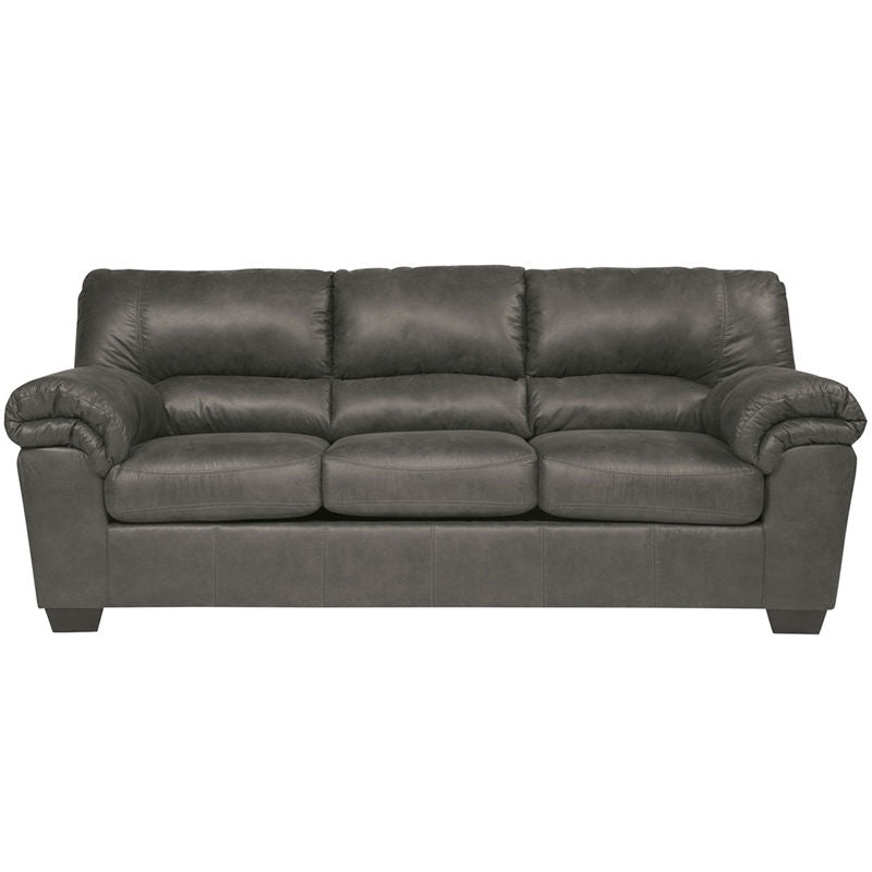 Signature Design by Ashley Bladen Sofa in Slate Faux Leather - Pot Racks Plus