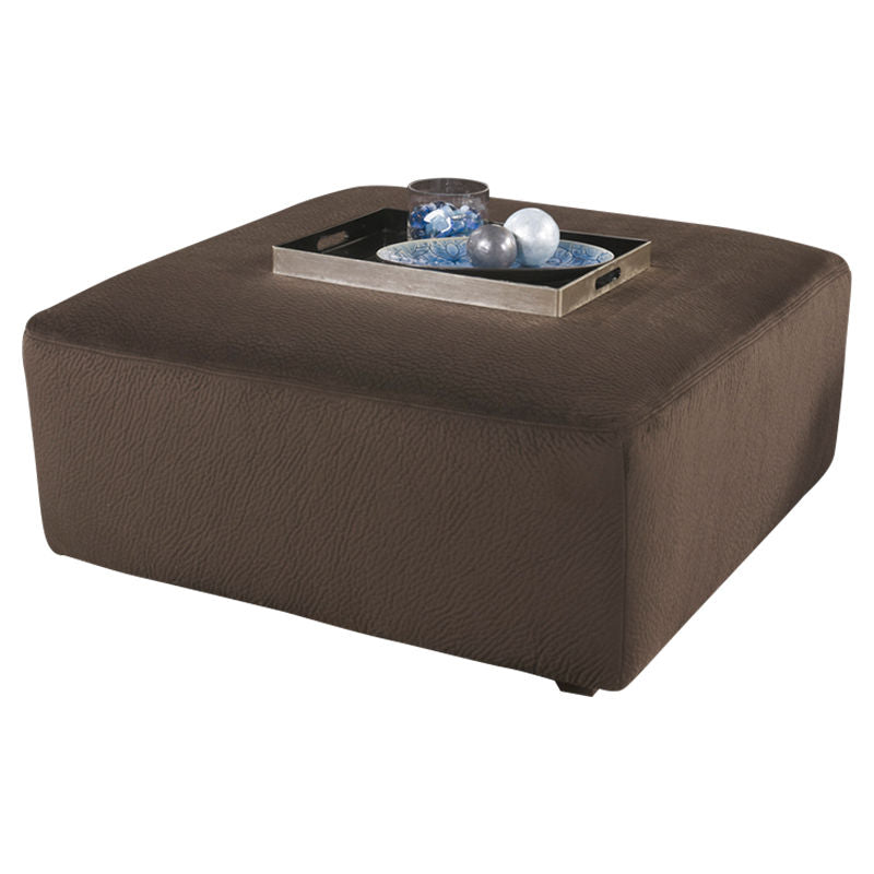 Signature Design by Ashley Jessa Place Oversized Ottoman in Chocolate Fabric - Pot Racks Plus