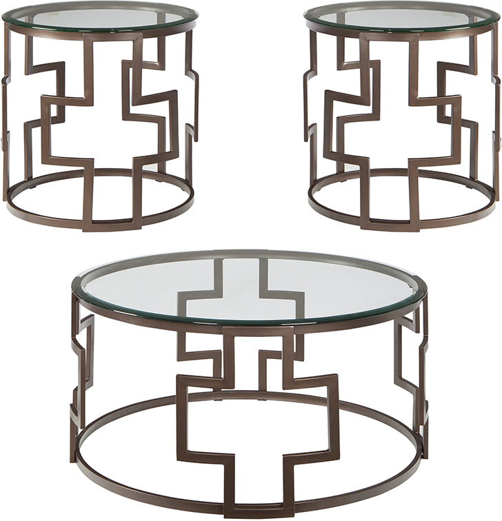 Flash Furniture Signature Design by Ashley Frostine 3 Piece Occasional Table Set - Pot Racks Plus