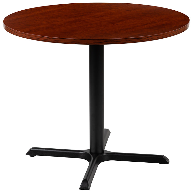 "Flash Furniture 36"" Round Multi-Purpose Conference Table in Cherry - Pot Racks Plus"