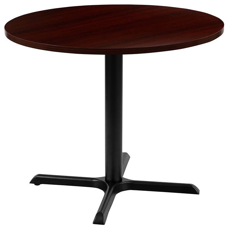 "Flash Furniture 36"" Round Multi-Purpose Conference Table in Mahogany - Pot Racks Plus"