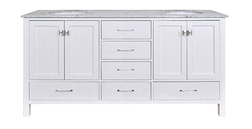 "72"" Malibu Espresso Double Sink Vanity, Without Cabinet Or Mirror - Pot Racks Plus"