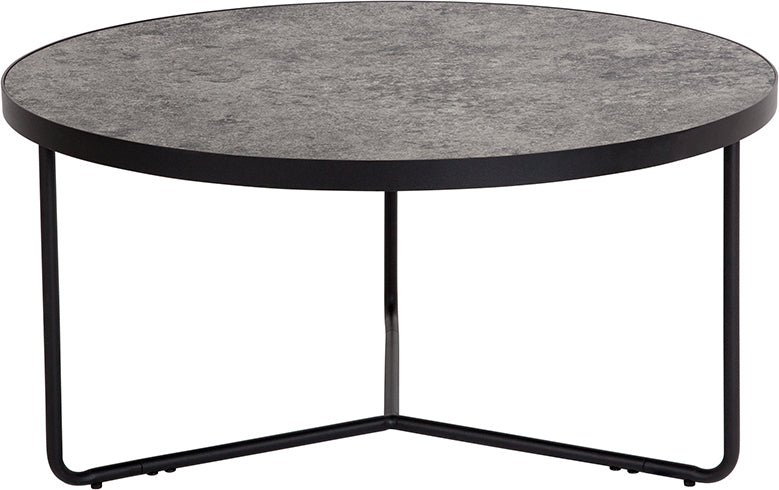 "Flash Furniture Providence Collection 31.5"" Round Coffee Table in Concrete Finish - Pot Racks Plus"