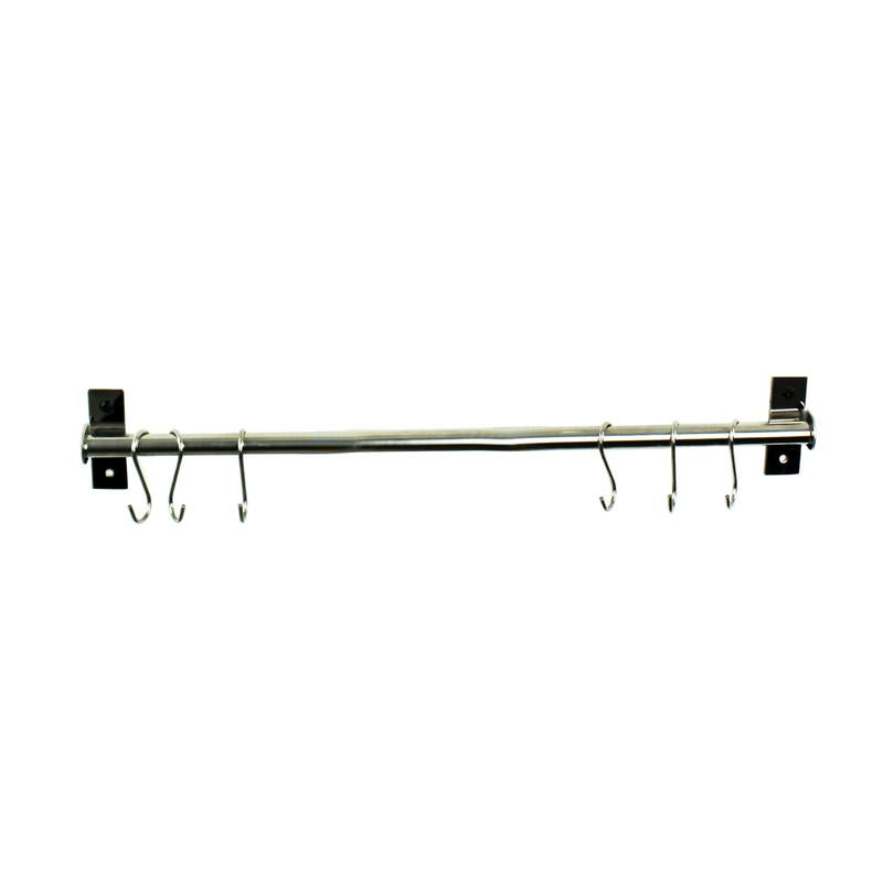 "Habitat Stainless Steel 24"" Wall Rack Utensil Bar - Pot Racks Plus"