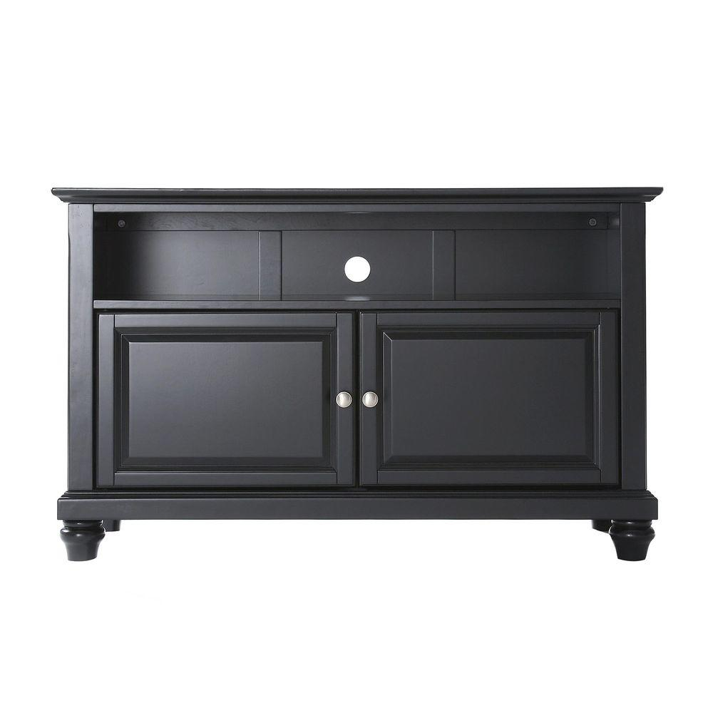 "Cambridge 42"" TV Stand, Black Finish - Pot Racks Plus"