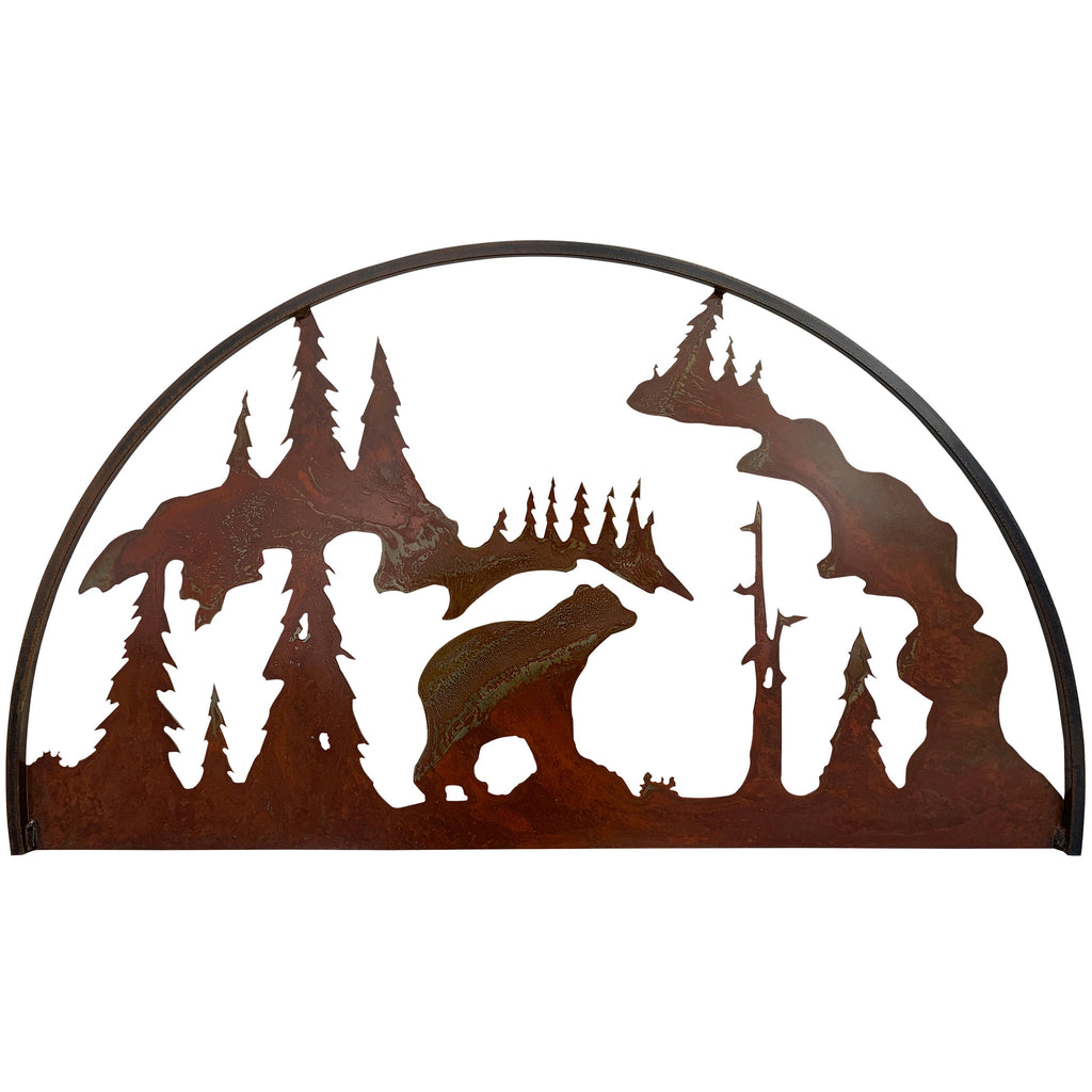 Bear Hoop, Rust Patina - Pot Racks Plus