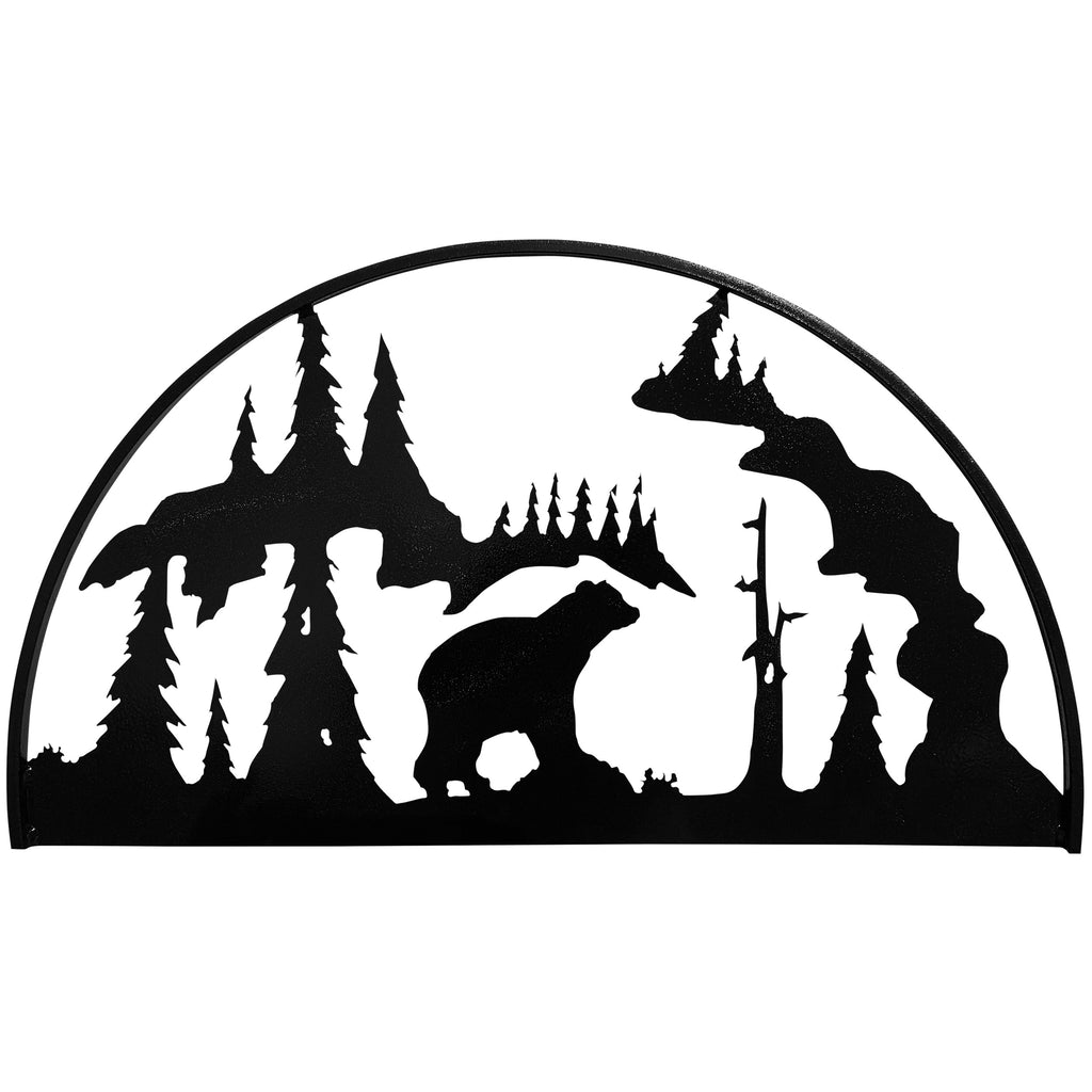 Bear Hoop, Hammered Black - Pot Racks Plus