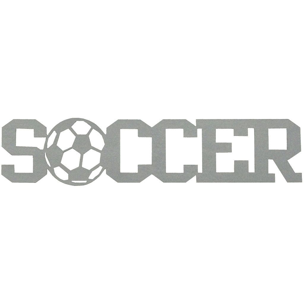 Soccer Word, Hammered Silver - Pot Racks Plus