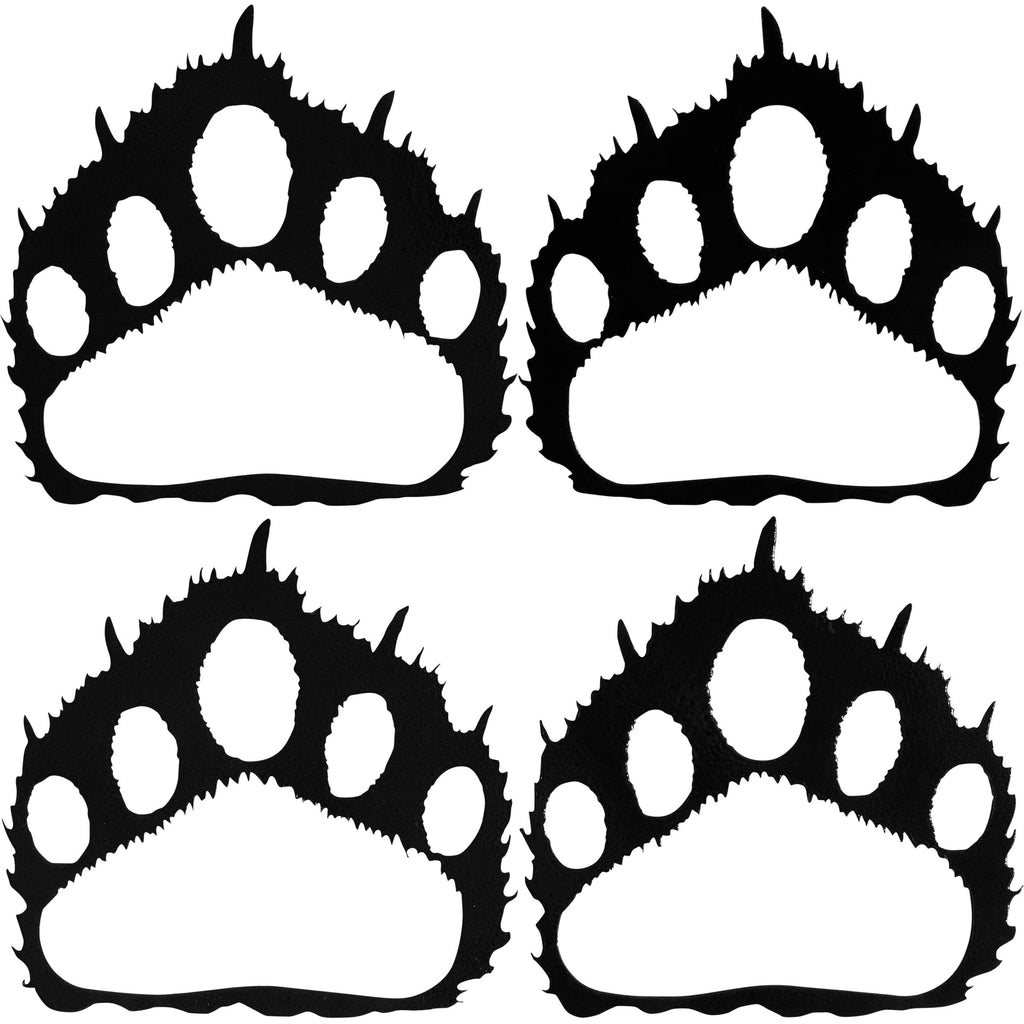 Bear Paw Prints (set of 4), Hammered Black - Pot Racks Plus