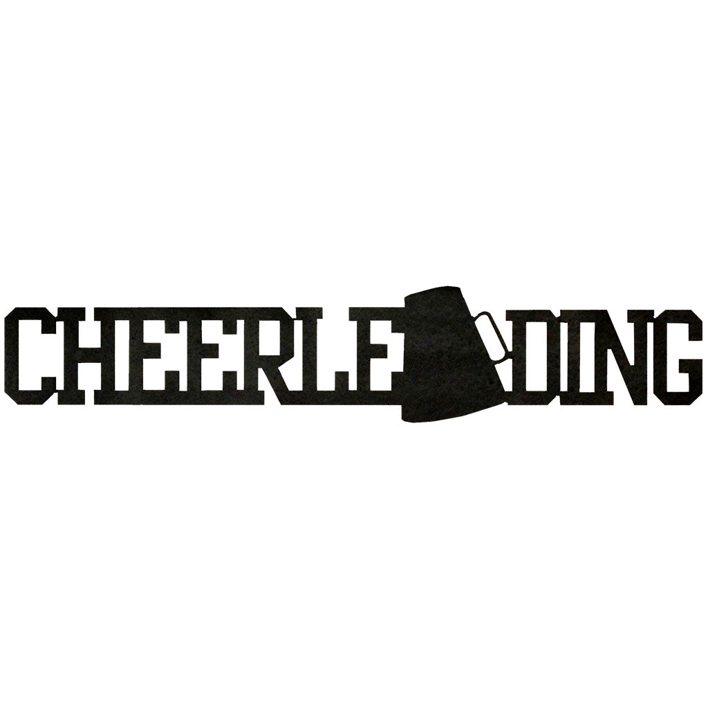 Cheerleading  Word-Hammered Black - Pot Racks Plus