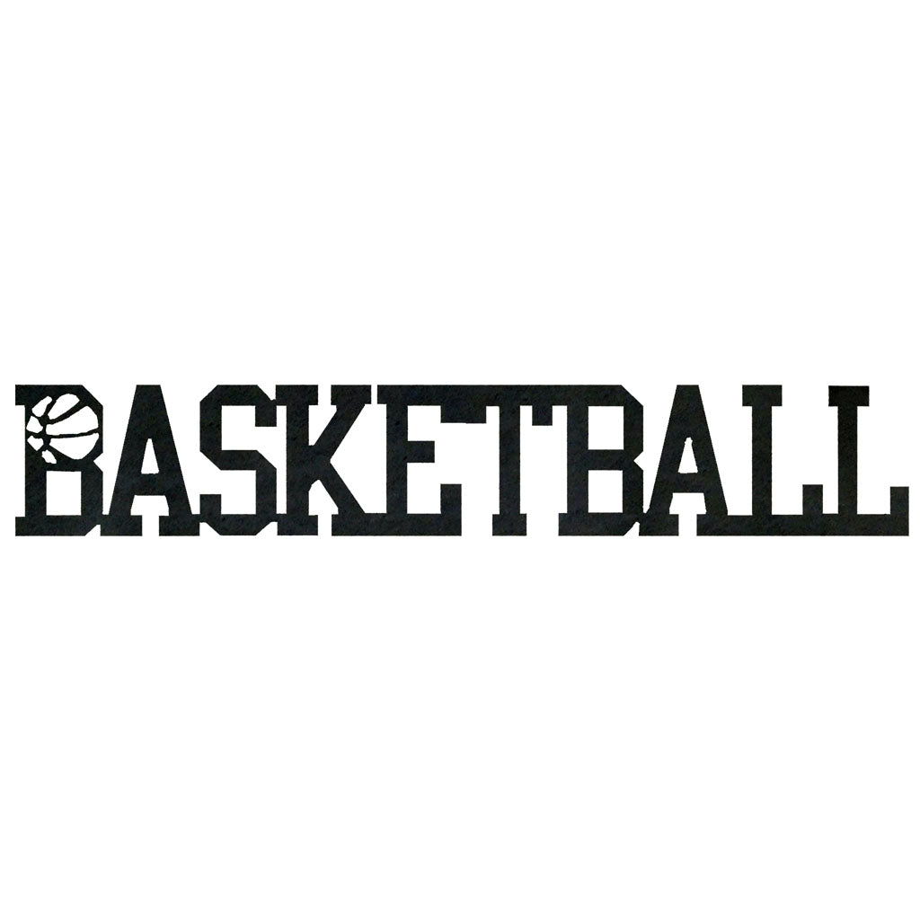 Basketball Word-Hammered Black - Pot Racks Plus