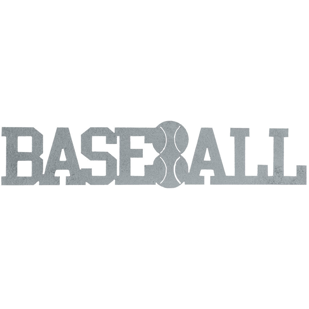 Baseball Word-Hammered Silver - Pot Racks Plus