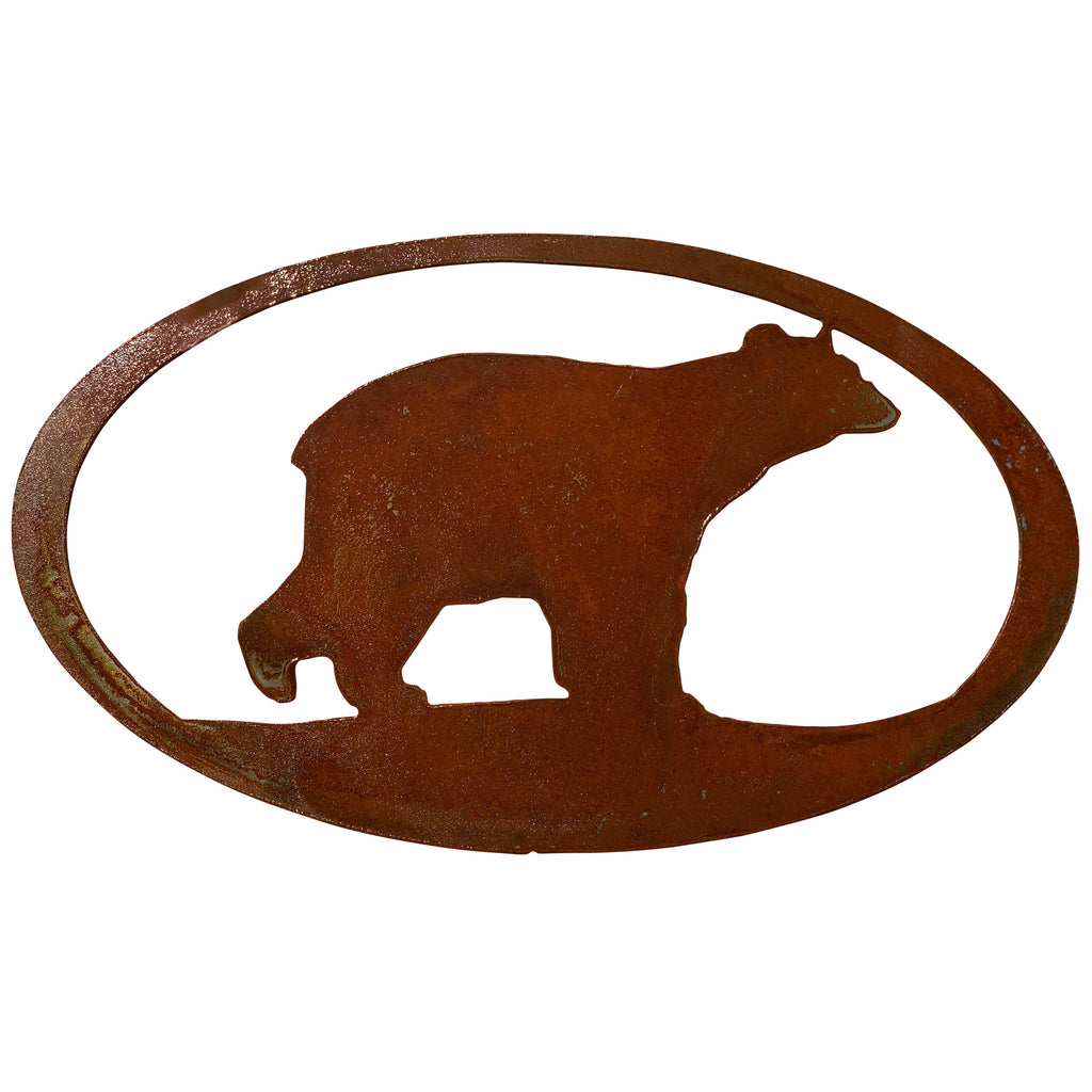 Bear Oval-Rust Patina - Pot Racks Plus