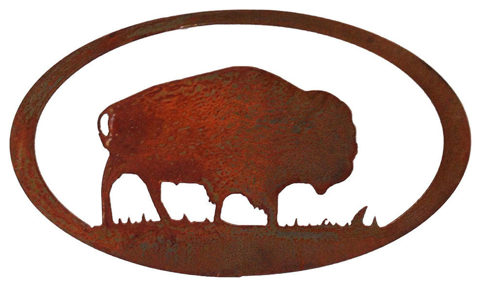 Buffalo Oval, Rust Patina - Pot Racks Plus