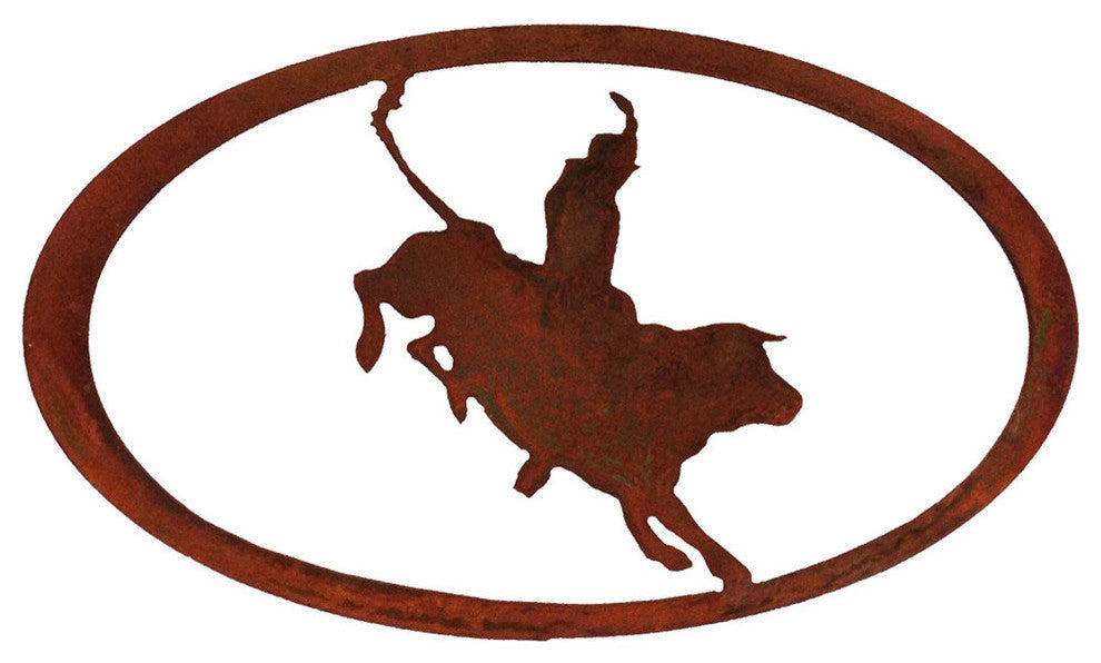 Bullrider Oval-Rust Patina - Pot Racks Plus