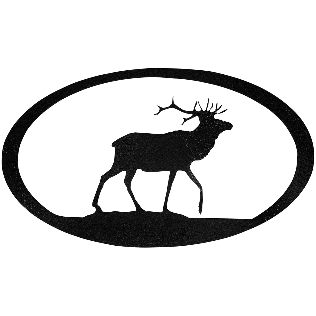 Elk Oval-Hammered Black - Pot Racks Plus