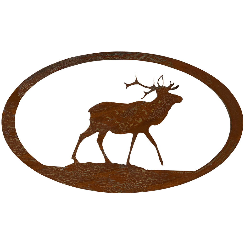 Elk Oval-Rust Patina - Pot Racks Plus
