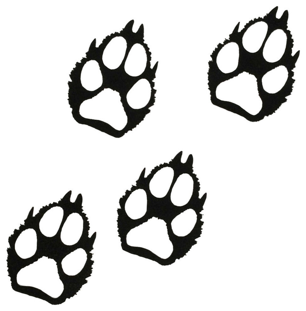 Wolf Paw Prints-Hammered Black - Pot Racks Plus