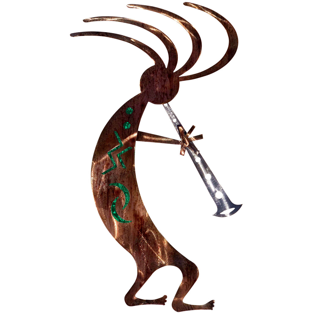 Kokopelli Dancer-Green - Pot Racks Plus