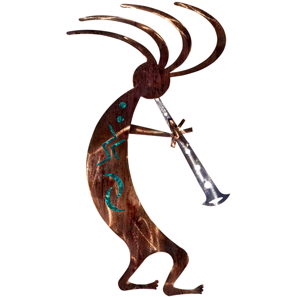 Kokopelli Dancer-Teal - Pot Racks Plus