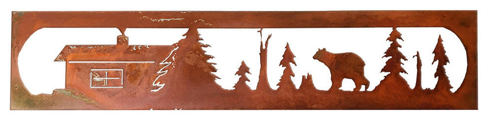 Bear Rectangle-Rust Patina - Pot Racks Plus