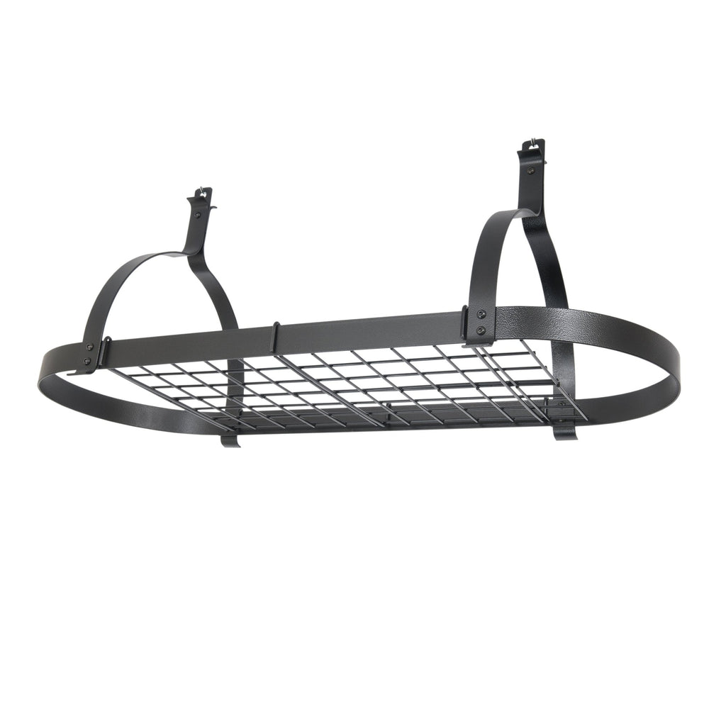 Oval Ceiling Rack With Grid - Pot Racks Plus