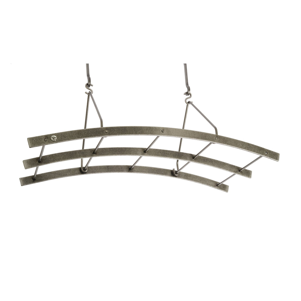 Premier Reversible Arch Pot Rack Hammered Steel - Pot Racks Plus